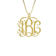18k Gold Plated 0.925 Silver Monogram Necklace