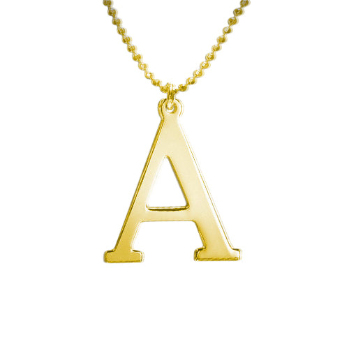 Gold Plated Initials Necklace