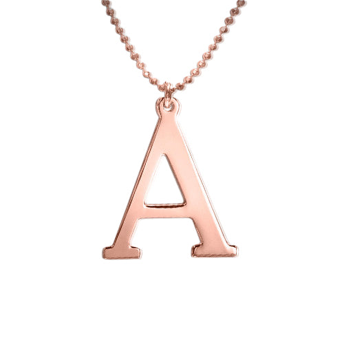 Rose Gold Plated Initial Necklace