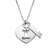 Heart Lock with Key Pendant