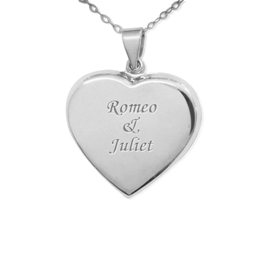 0.925 Silver Engraved Locket Necklace