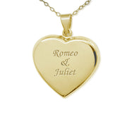 18k Gold over Silver Heart Locket
