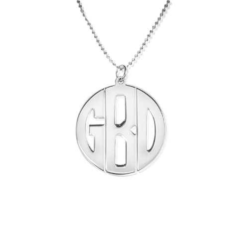 0.925 Silver Monogram Necklace - Print