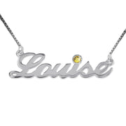 Silver and Swarovski Name Necklace