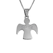 0.925 Silver Guardian Angel Necklace