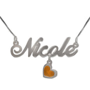 0.925 Silver Name Necklace - Charm