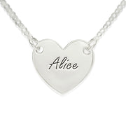 0.925 Silver Engraved Heart Necklace