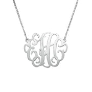 1 Inch Monogram Necklace in Silver 0.925