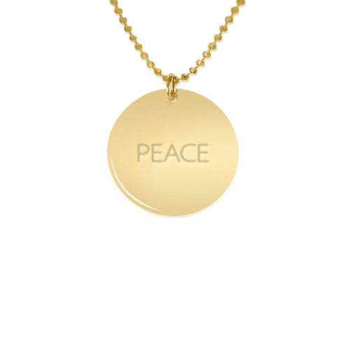Gold Plated Silver Single pendant Necklace