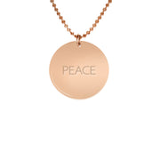 Rose Gold Plated Silver Single Pendant Necklace