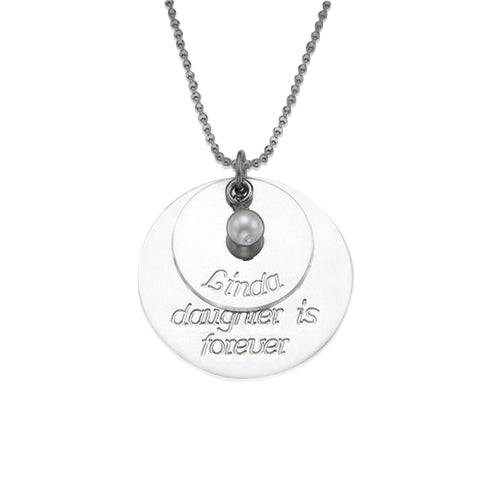 0.925 Silver Daughters Necklace