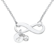 0.925 Silver Infinity Necklace - Initial