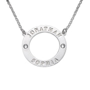 0.925 Silver Karma Necklace - Swarovski Birthstones