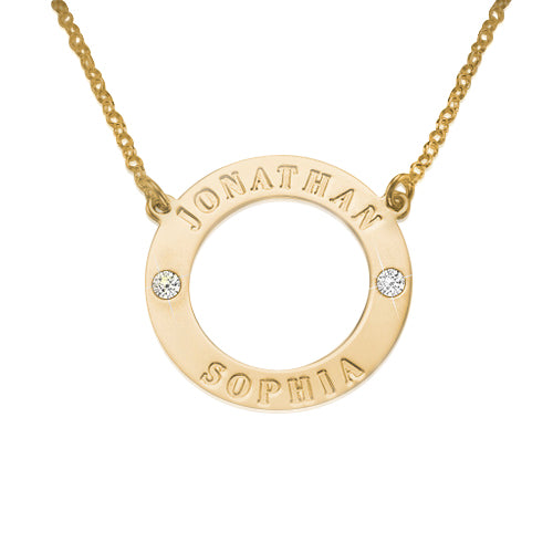 18K Gold Plated 0.925 Silver Crystal Karma Necklace