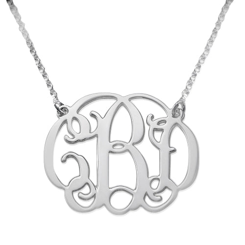 0.925 Silver Necklace - Monogram
