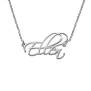 0.925 Silver - Script Necklace
