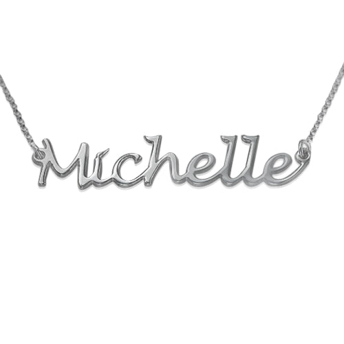 0.925 Silver Handwritten Name Necklace