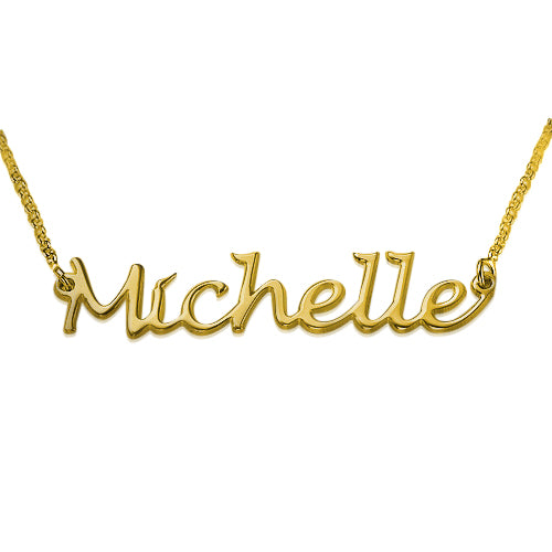 Gold Plated Handwritten Name Necklace