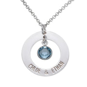 0.925 Silver Couples Necklace