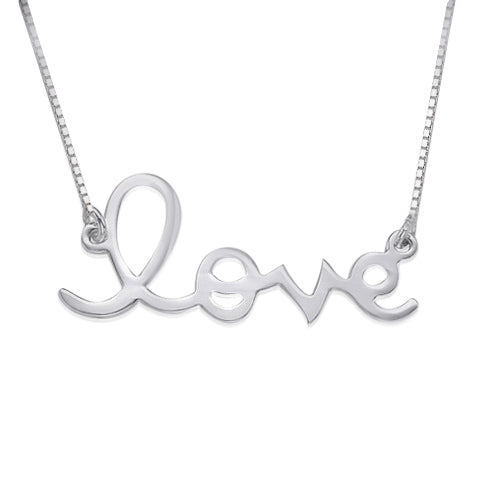 0.925 Silver Love Necklace