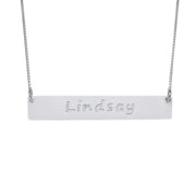 0.925 Silver Bar Necklace
