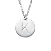 0.925 Sterling Silver Initial Charm Necklace