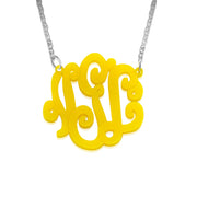 High Quality Acrylic Monogram Necklace