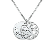 0.925 Sterling Silver Family Tree Necklace