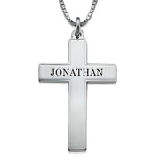 Men's Engraved Cross Necklace
