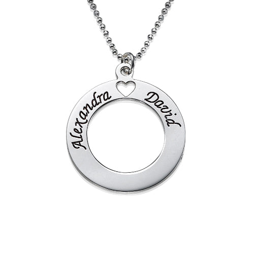 0.925 Silver Circle of Love Necklace