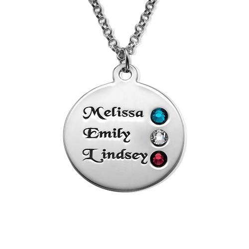 0.925 Silver Birthstone Necklace