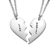 0.925 Silver Breakable Heart Necklace