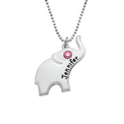 0.925 Sterling Silver Elephant Necklace