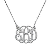 0.925 Silver Small Size Monogram Necklace