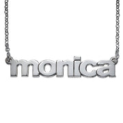 0.925 Silver Lowercase Font Necklace
