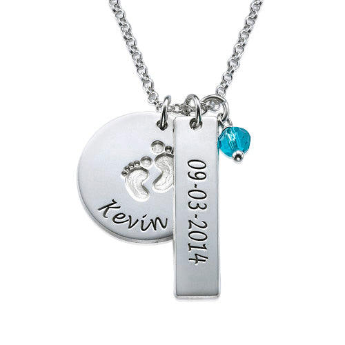 Baby Feet Charm Necklace