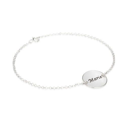 Bracelet with Engraved Disc