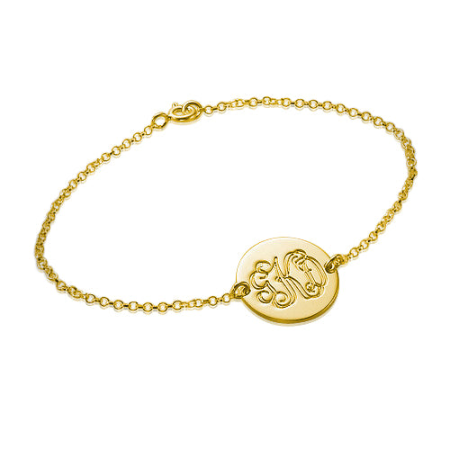 Gold Plated Personalized Bracelet - Monogram