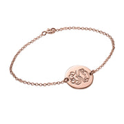 Rose Gold Plated Personalized Bracelet - Monogram