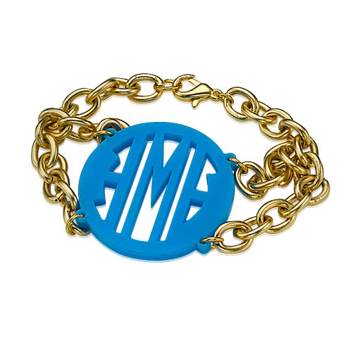 High Quality Acrylic Monogram Bracelet