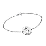 0.925 Silver Cut Out Kid's Bracelet