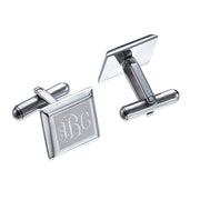 Stainless Steel Monogrammed Cufflinks