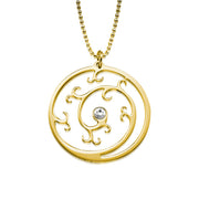 My Only One  18K Gold Plated Sterling Silver Eternal Spiral Necklace