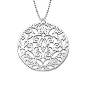 My Only One  Sterling Silver Vintage Filigree Necklace