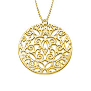 My Only One  18K Gold Plated Sterling Silver Vintage Filigree Necklace