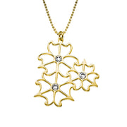 My Only One  18K Gold Plated Sterling Silver Petalo Necklace