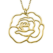 My Only One  18K Gold Plated Sterling Silver Rose Necklace