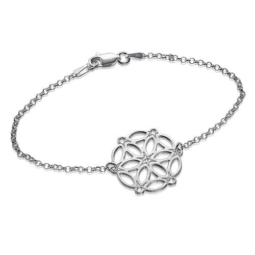 My Only One - Cirle of Life Mandala Sterling Silver Bracelet