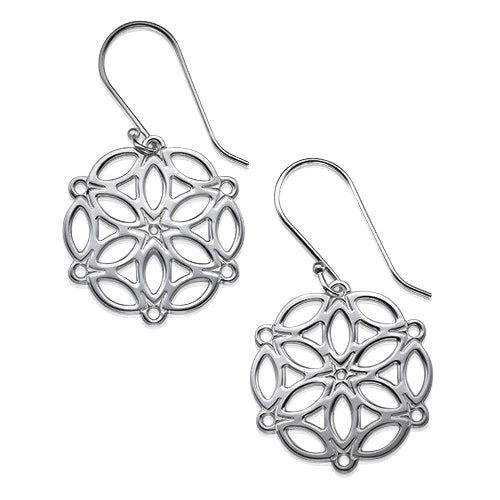My Only One - Circle of Life Mandala Sterling Silver Earrings