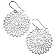 My Only One - Flower Mandala Sterling Silver Earrings